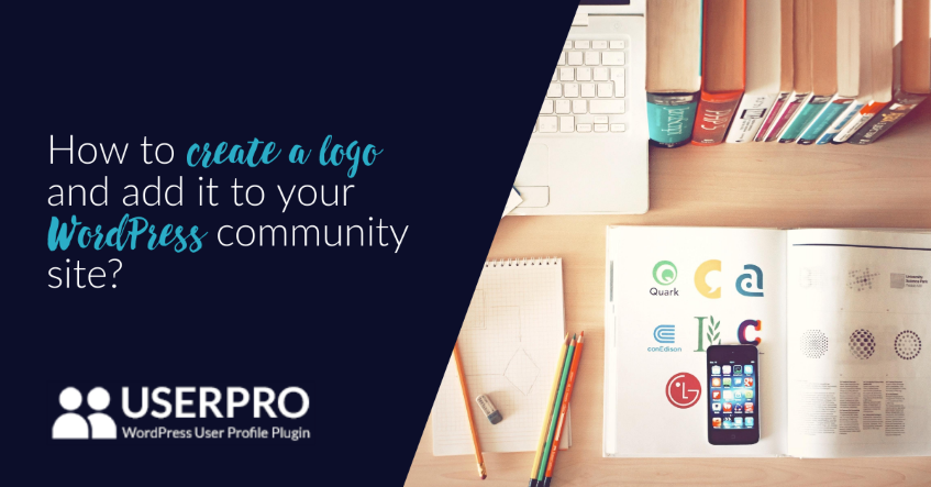 how to create a logo and ad it in your wordpress community site