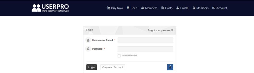 UserPro user profile page